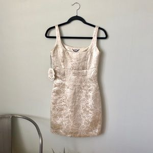 BB DAKOTA 👑 NWT Metallic Brocade Sheath Dress